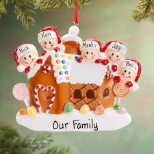 personalized gingerbread family ornament miles kimball