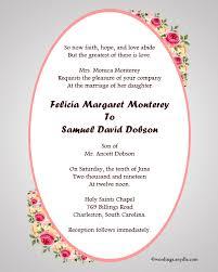 Wedding Invitations Examples Wedding Invitation Models In English Pacq Co