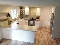 kitchen design l shaped tiny kitchen design with white cabinet l shaped tiny kitchen design with white cabinet and green backsplash also wooden floor complete with wooden wall shelving also black refrigerator and white