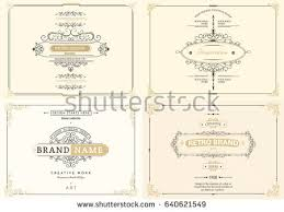 monogram creative cards template flourishes ornament stock vector