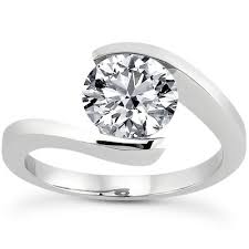 unique engagement ring settings unique rings no prongs wedding promise