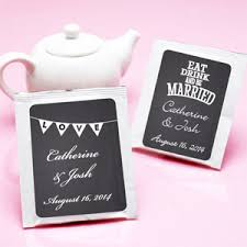 tea bag favors chalkboard personalized tea bag favor tea time theme wedding