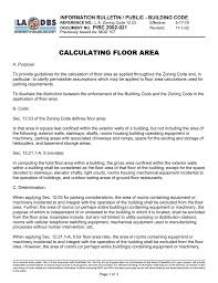 calculating floor area