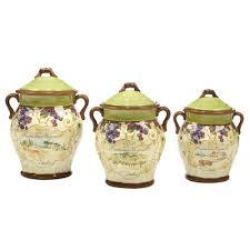 fleur de lis kitchen canisters fleur de lis living 3 kitchen canister set wayfair