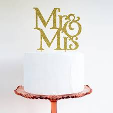 glitter cake topper glitter mr and mrs cake topper by may contain glitter