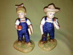 Home Interior Denim Days Figurines by 1985 Homco Home Interiors 1522 Denim Days Figurine Boy Throwing