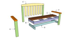 Plans For Building A Wood Bench by 2x4 Bench Plans Howtospecialist How To Build Step By Step Diy