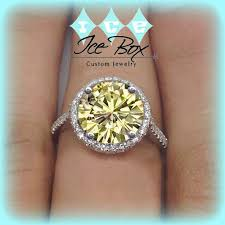 canary engagement ring 3 51 carats yellow canary halo solitaire with