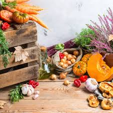 fall autumn harvest thanksgiving concept organic fresh ripe stock