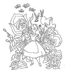 alice in wonderland coloring book 580501
