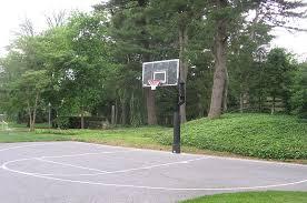 Backyard Basketball Half Court Custom Driveway Basketball Courts L Deshayes Dream Courts
