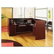 Receptionist Desk Furniture Amazon Com Alera Valencia Series Reception Desk W Counter 71w