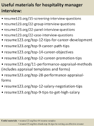 Sample Resume For Hotel Manager by Top 8 Hospitality Manager Resume Samples
