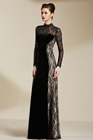 long sleeve gowns dressed up