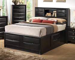 king storage bed with bookcase headboard 82 enchanting ideas with