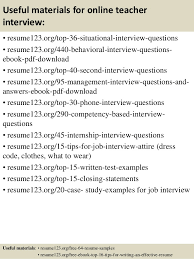 Samples Of Teacher Resumes by Top 8 Online Teacher Resume Samples