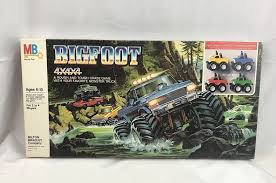 bigfoot monster truck game vintage 1984 milton bradley bigfoot monster truck 4x4x4 board game