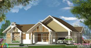 home design bungalow type 2024 sq ft bungalow style single floor house kerala home design