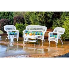 white patio furniture outdoor seating dining for less