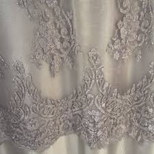 Wedding Table Clothes Carolyn Lace Gray Wildflower Linen