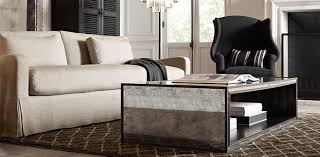 restoration hardware ottoman coffee table the most mirrored coffee table looks great love this room carpet