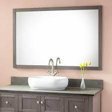 48 Inch Bathroom Mirror Everett Vanity Mirror Ash Gray Bathroom