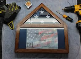 Military Flag Frame Build Your Own Flag Display Case With Certificate Ensign