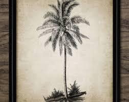 palm tree drawing etsy