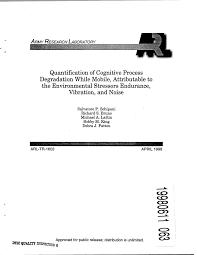 osha technical manual noise quantification of cognitive process degradation while mobile