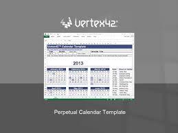 perpetual calendar template free perpetual calendar