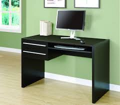 Office Desk Keyboard Tray Modern Cappuccino Office Desk With Storage Keyboard Tray