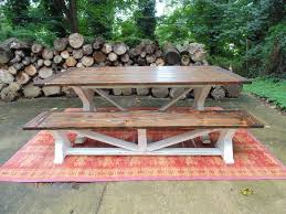Handmade Wooden Outdoor Furniture by Dining Table Farmhouse Reclaimed Wood Custom Handcrafted