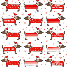 dachshund christmas wrapping paper christmas dachshund wrapping paper 3 sheets christmas