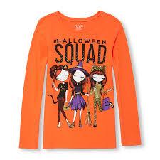 girls long sleeve halloween glitter u0027halloween squad u0027 fashionista