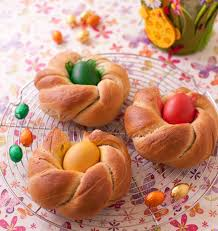 cuisine de paques brioche nids de pâques italienne les meilleures recettes de