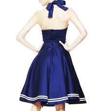 hell bunny pin up 50s dress motley blue sailor anchor all sizes ebay