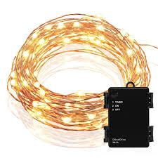 kohree micro 30 leds string lights battery