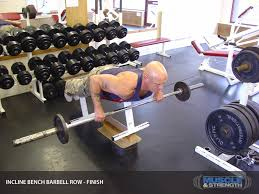Will Incline Bench Increase Flat Bench Incline Bench Barbell Row Video Exercise Guide U0026 Tips