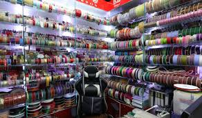 ribbon shop and lace shop in china yiwu market
