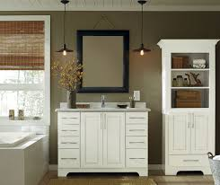 Bathrooms With White Cabinets White Bathroom Vanity And Storage Cabinet Schrock