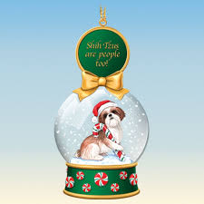 shih tzu snow globe ornaments the danbury mint
