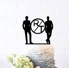 mr and mr cake topper interchangable wedding cake topper more races