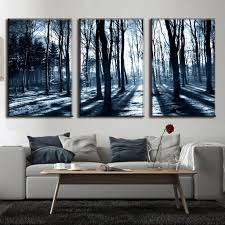 Landscape Canvas Prints by Compare Prices On Forest Wall Art Set Of 3 Online Shopping Buy