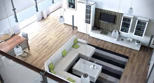 long narrow living room with fireplace at one end living room