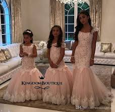 mermaid lace arabic flower dresses champagne tulle baby