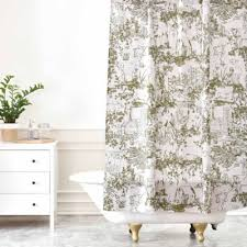 Vintage Green Curtains Buy Toile Shower Curtain From Bed Bath U0026 Beyond