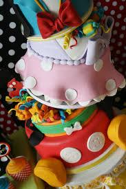 topsy turvey six layer disney character birthday cake disney