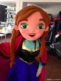 Anna Frozen Costume New Special Anna Frozen Mascot Costume Elsa Olaf Figure Ice
