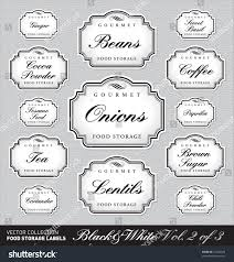 labels for kitchen canisters set 3 3 13 ornate vector stock vector 74364598
