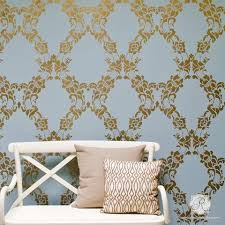 Floral Wall Stencils For Bedrooms Damask Wall Stencils Large Wall Stencils For Diy Designer